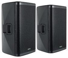 "2x DJ PA 15"" Aktiv Lautsprecher Set Box Bluetooth Monitor Bi-Amping Stereo 2000W"