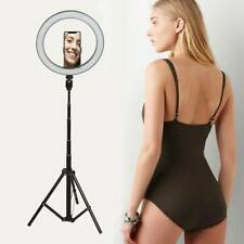 "10"" LED Ring Light Dimmable Lighting Kit Phone Selfie Tripod Makeup Live uk"