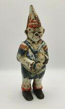 Cast Iron Late 19th Century Hand Painted Clown Moneybox Piggy Bank Figurine Rare