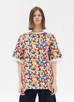 CELINE by Phoebe Philo 1600$ New Polo Sweater In Multicolour Small Flowers Print