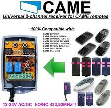 CAME compatible universelle 2-canaux Récepteur 12-24AC/DC pour CAME Télécommande