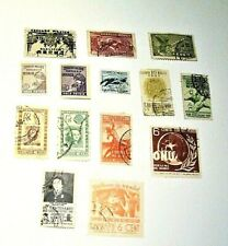 MEXICO, 1934-1947,  Lot of (14) Used, Hinged Stamps