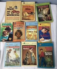 Lot of 10 Beverly Cleary Chapter books Ramona Henry Beezus Ribsy Socks Mouse vtg