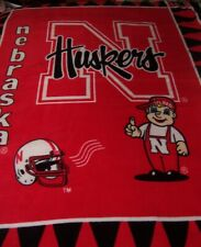 "Nebr Cornhuskers Afghan/Sofa Throw, Large48""X60"", Two-Layer Soft Fleece,Washable"
