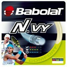 One Set BABOLAT N.vy 130 / 16 Gauge Synthetic Gut Tennis String Natural Comfort