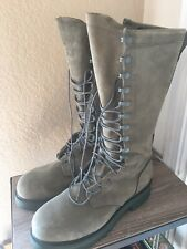 "Hoffman Boots SG16POWERX 16"" Safety Toe Sage Suede Lineman Boots USA Men's 10.5D"