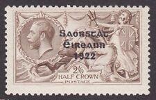 Ireland 1922 1927 Missing Accent T59d SG63a sc 56a 2/6 seahorse MNH CV$850.00+