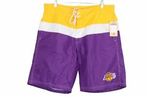 Mens LA Los Angeles Lakers Basketball Swim Trunks Board Shorts Size Medium NWT