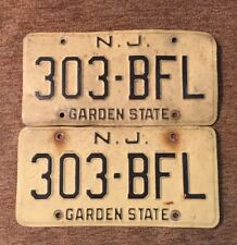 Vintage matching new jersey license plates 303-BFL