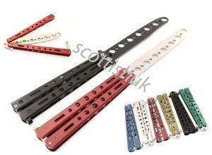 Metal Butterfly Trainer Balisong Practice Tool Steel Novelty Fidget Toy