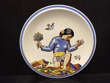"13 7/8"" VERNON KILNS SALAMINA Charger 1940s Art Deco ROCKWELL KENT Design"