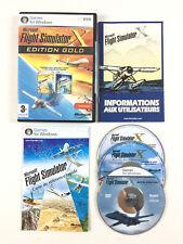 Flight Simulator X Gold Edition Professionnelle + Acceleration Jeu Sur PC