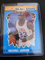 Michael Jordan 1990 Fleer '90 All-Stars Card #5 Chicago Bulls basketball NM-MT