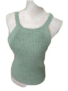 Ultra Flirt Junior Girls Size L Sage Green Sweater Vest-NWT-Cotton/Acrylic