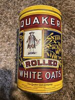 Quaker Rolled White Oats Tin MISSPRINT Canister 1992 STAMP ON 1984 TIN VERY RARE