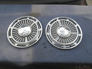 "Vintage 1963 Chevy ll Chevrolet 13"" Hubcaps,Hub Cap Wheel Covers Good Cond.Set/2"