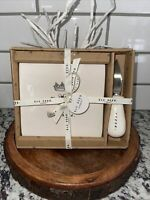 RAE DUNN ICON CROWN BEE KIND CHEESE PLATE KNIFE SET VALENTINES DAY GIFT MOM