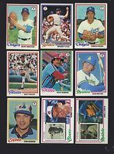 Topps Baseball Cards 1978 Season For Sale Ebay