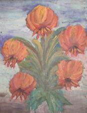 Flowers floral vintage oil painting