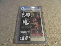 Batman #497 Bane Breaks Batman's Back CGC NG Manufacturing Error 1993 DC
