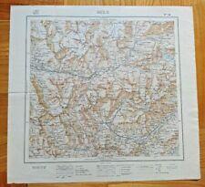 Carta Istituto Geografico Militare IGM Foglio 54 OULX  (Torino) 1925