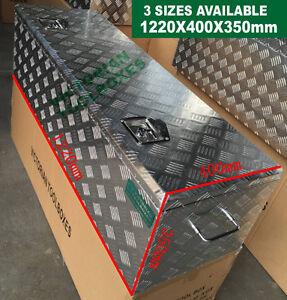 Heavy duty Aluminium Toolbox 1220x400x350mm Top Open 2 Locks Ute Truck Tool box