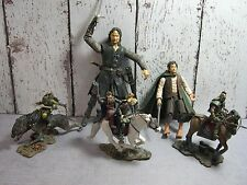 Lord of the Rings Movie Action figures Aragorn Frodo Orc Legolas Gimli Rohan