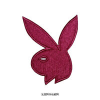 Playboy Pink Bunny Logo Embroidered Iron On Sew On Patch Badge For Clothes etc