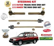 FOR SUBARU FORSTER 1997-2002 2x OUTER & 2x INNER STEERING TRACK RACK TIE ROD END