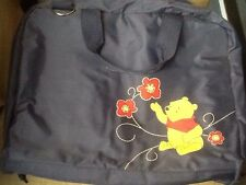 "Disney,""Winnie the Pooh"" Navy Blue Nylon Travel Diaper/Messenger Bag Unisex!"
