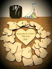 Drop Top Wedding Guest Book Gift Tags & Centre Piece