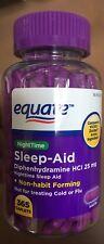 Equate Nighttime Sleep Aid Caplets Diphenhydramine HCI 25 mg 365 count  -NEW-