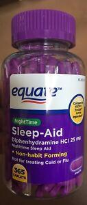 Equate Nighttime Sleep Aid Caplets Diphenhydramine HCI 25 mg 365 count