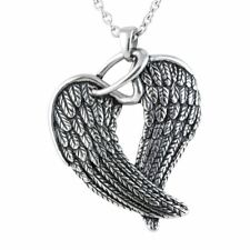 Wings & Halo Necklace Angel Love Pendant Stainless Steel Jewelry By Controse