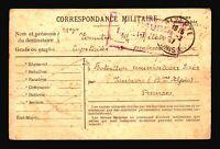 Tunisia 1917 POW Card / BIZERTE CDS / Light Creasing - Z14448