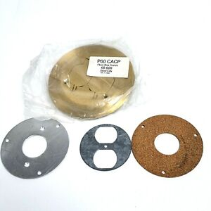 P60 CACP Floor Box Series 68 600 Steel City Brass Round Plate Cover