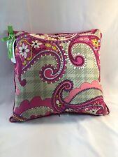 Vera Bradley 'Paisley Meets Plaid' Pink Throw Pillow- 17 X 17 - NWT