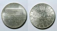 AUSTRIA.  50 SCHILLING 1966.  BANCO NACIONAL.    LEVES RAYITAS.   EBC