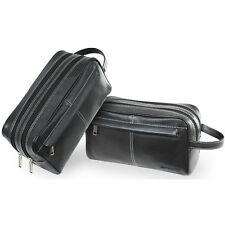 Pierre Cardin Leather Travel Toiletry Bag (black)
