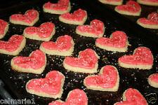 Fresh Homemade HEART CREAM CHEESE BUTTER COOKIES BUTTERCREAM FROSTING
