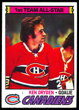 1977 78 TOPPS #100 KEN DRYDEN AS NM MONTREAL CANADIENS HOCKEY FREE SHIP TO USA