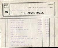 1905 OLEAN NEW YORK*EMPIRE MILLS*JP & CH FELT*VINTAGE BILLHEAD*RECEIPT*