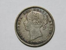 CANADA 1858 20 CENTS QUEEN VICTORIA TONED SILVER WORLD COIN 🌈⭐🌈
