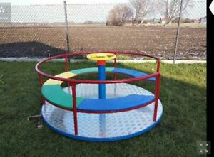 Kinderkarussell Drehbare Karusselle Kinder Spaß Freizeit Karussell Spielplatz