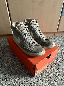 Scarpe Ragazzo Uomo Donna Nike Blazer Wolf Grey EU 42,5 Scarponcino Moda Scatola
