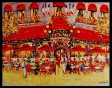 """""""Le New Fouquets"""" by Duaiv (Framed Fine Art Mixed Media on Canvas Contemporary)"""