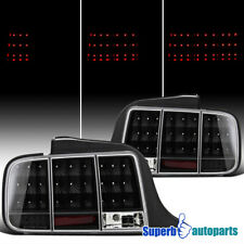 For 2005-2009 Ford Mustang LED Tail Stop Lights Sequential Signal Black