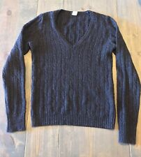J.Crew Women's Long Sleeve V-neck Knit Wool Angora Blend Sweater Size: Sm