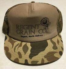 3443ef8862f52 Regent Grain Co Trucker Hat Agriculture Farming Cap North Dakota Camo  Hunting ND