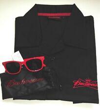 Official Budweiser smart short sleeved shirt and free Budweiser sunglasses
